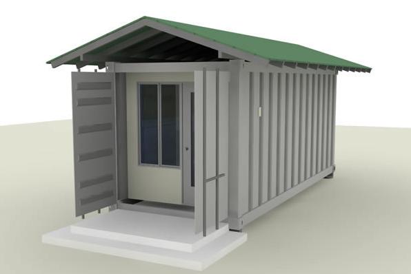 20 container hut rental shift. Black Bedroom Furniture Sets. Home Design Ideas
